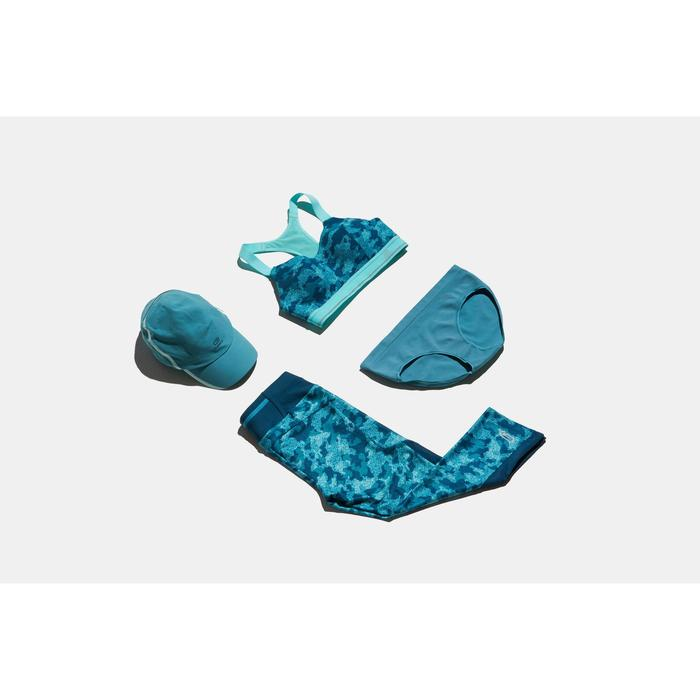BRASSIERE RUNNING CONFORT TURQUOISE CAMOUFLAGE