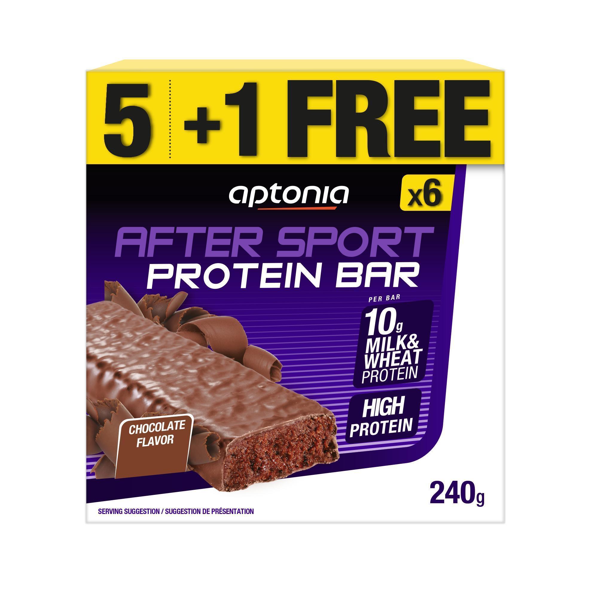Aptonia Eiwitrepen After Sport chocolade 40g*5 + 1 gratis