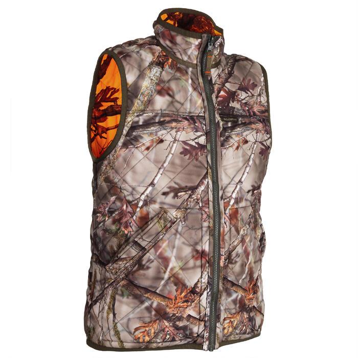 Jagdweste Camouflage wendbar orange 100