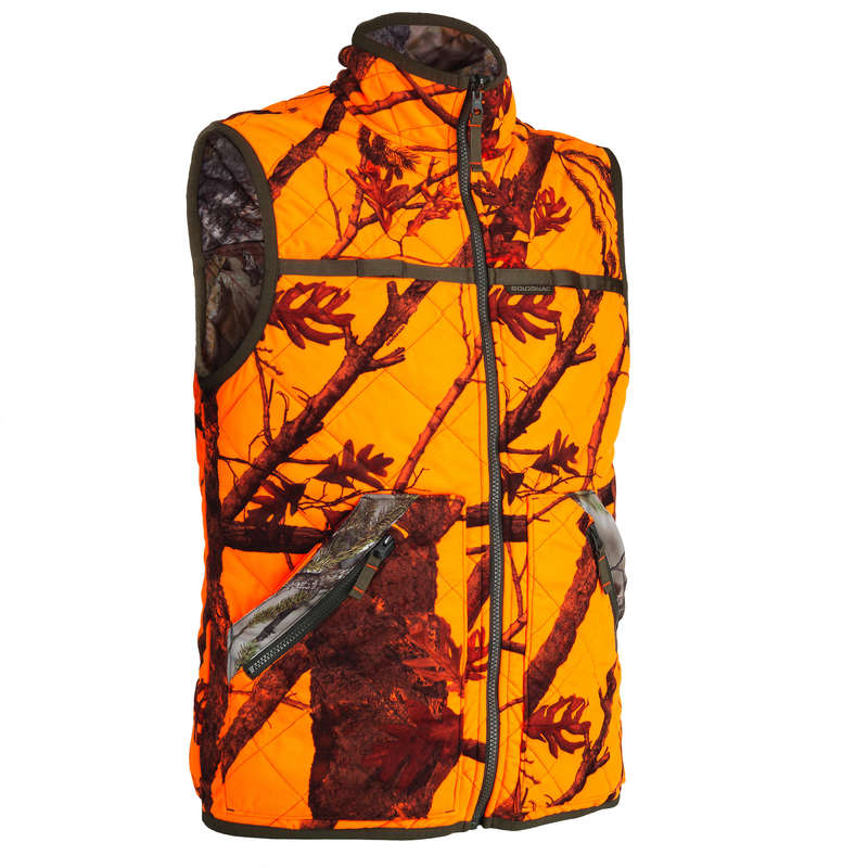 HIGH VIS DRIVEN/POST CLOTHING Shooting and Hunting - BGP 100 reversible vest SOLOGNAC - Hunting and Shooting Clothing