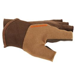 GANTS MITAINES BALL TRAP MARRON SOLOGNAC