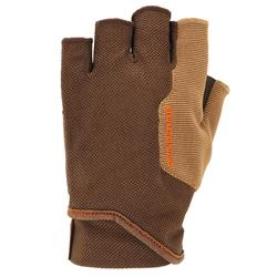 Vingerloze handschoenen voor kleiduifschieten bruin