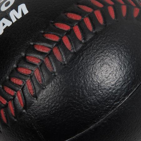 Pelota de beisbol de espuma BA 100 foam negro y rojo