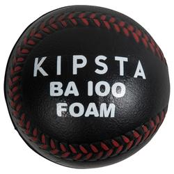 BA 100 Foam Baseball Ball - Black/Red