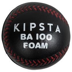 Pelota Béisbol Kipsta Espuma BA100 Negro
