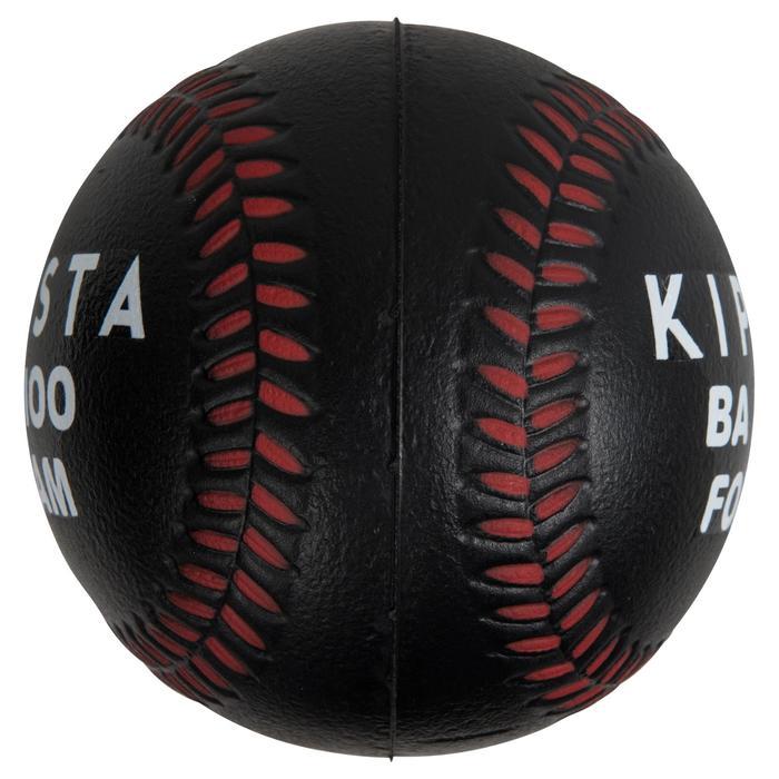 Balle de Baseball en mousse BA 100 foam noire et rouge