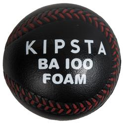 Foam bal BA 100 voor baseball zwart en rood