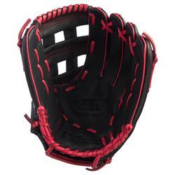Baseballhandschuh A360 linke Hand 12'' Erwachsene schwarz/rot