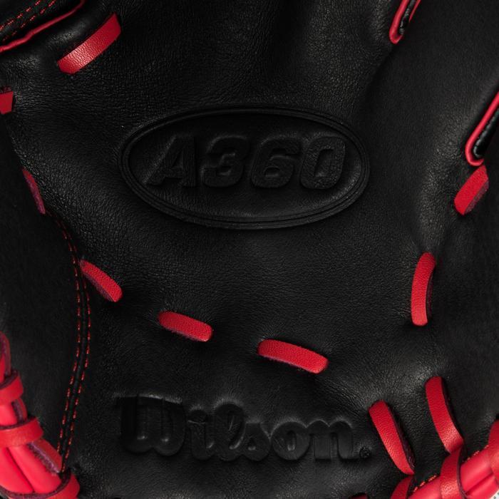 Gant de baseball A360 main gauche 12 pouces noir rouge