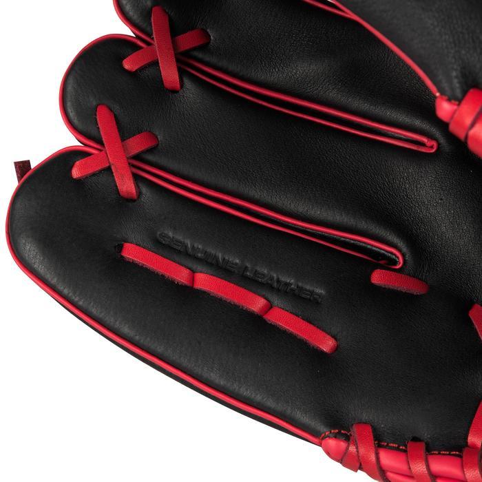 Baseballhandschoen A360 rechterhand 12 inch zwart rood