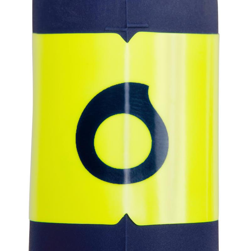 Tubo de buceo SCD 100 azul boquilla silicona