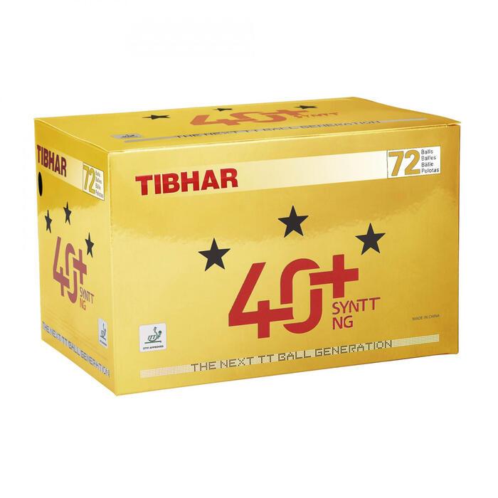 BALLES DE TENNIS DE TABLE SYNTT NG 3* 4+ X72 BLANCHES - 1315218