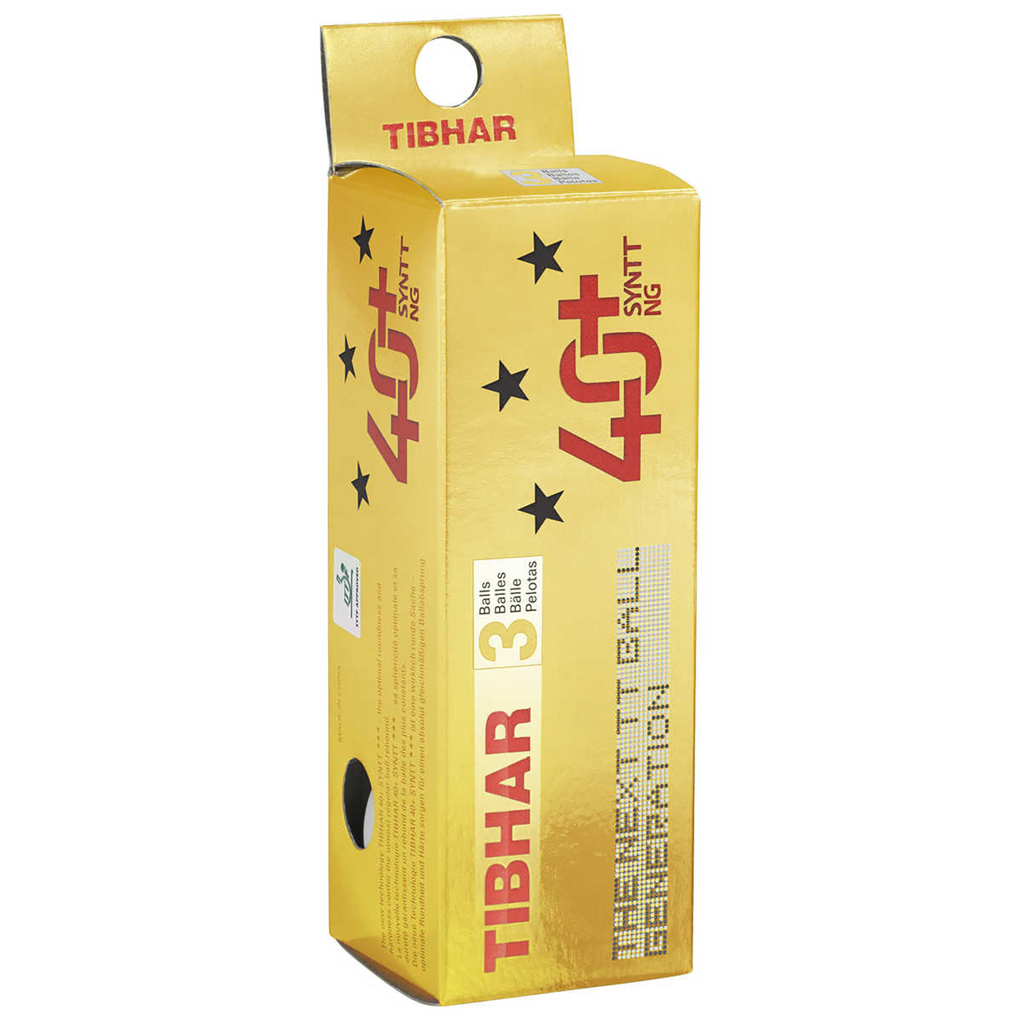 Tibhar Tafeltennisballetjes 3 ster 40+ SYNTT NG x3 wit