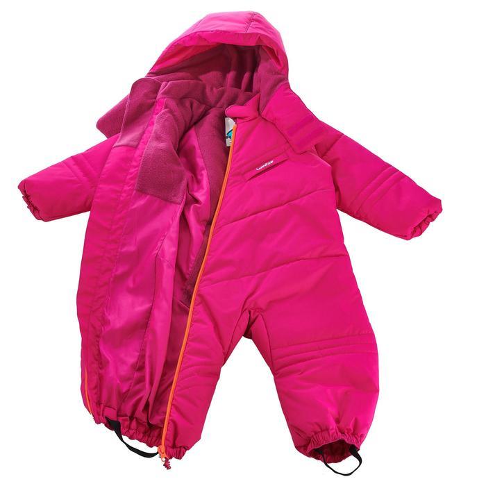 Sneeuwpak warm voor sleeën babyroze