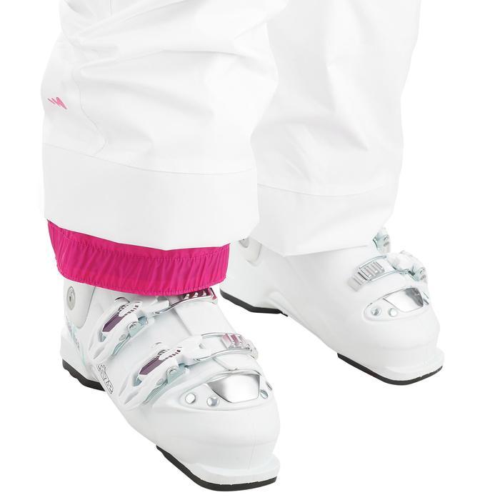 Skibroek voor kinderen SKI-P PA 100 wit