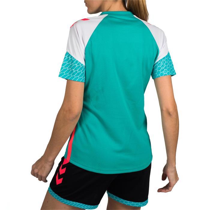 Handballtrikot Damen türkis/weiß