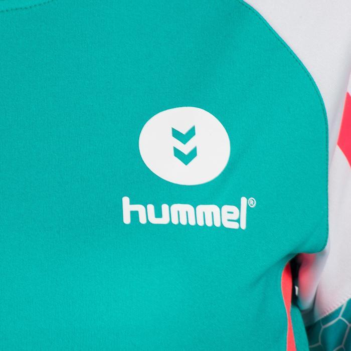 Handbalshirt voor volwassenen Hummel mint en wit