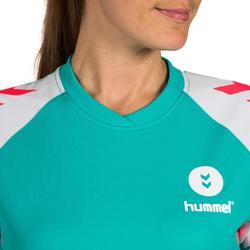 Camiseta de balonmano adulto Hummel de color mentol y blanco