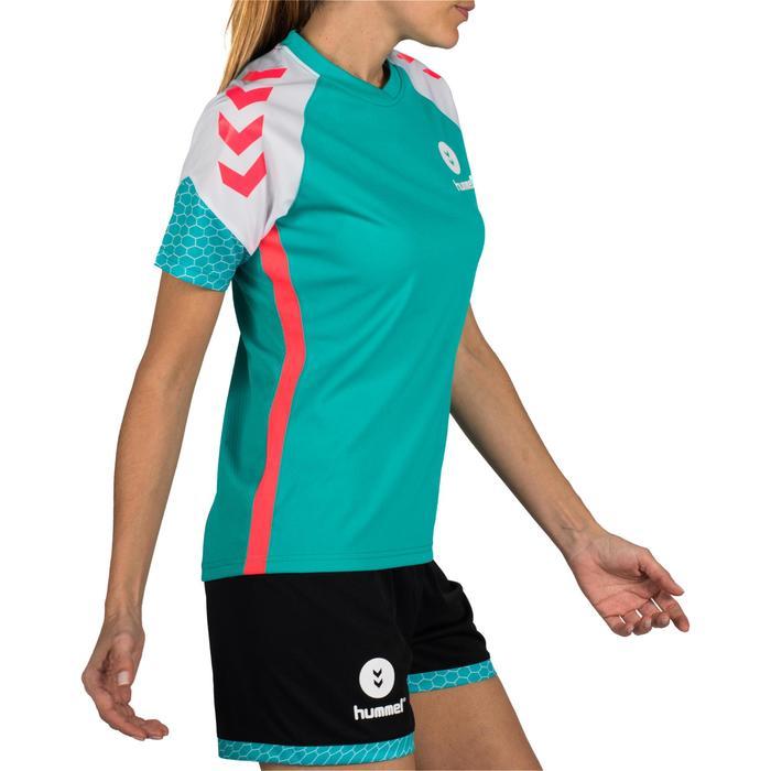 Maillot de Handball adulte Hummel de couleur menthol et blanc