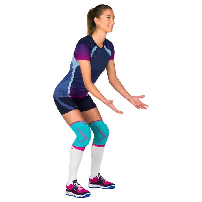 Camiseta de voleibol mujer V500 azul