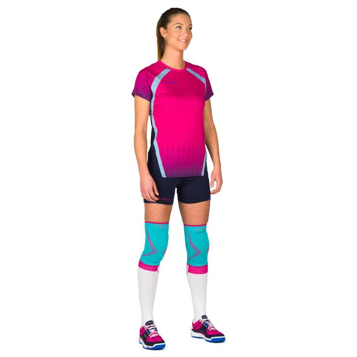 Short de volley-ball femme V500 bleu marine - 1315368