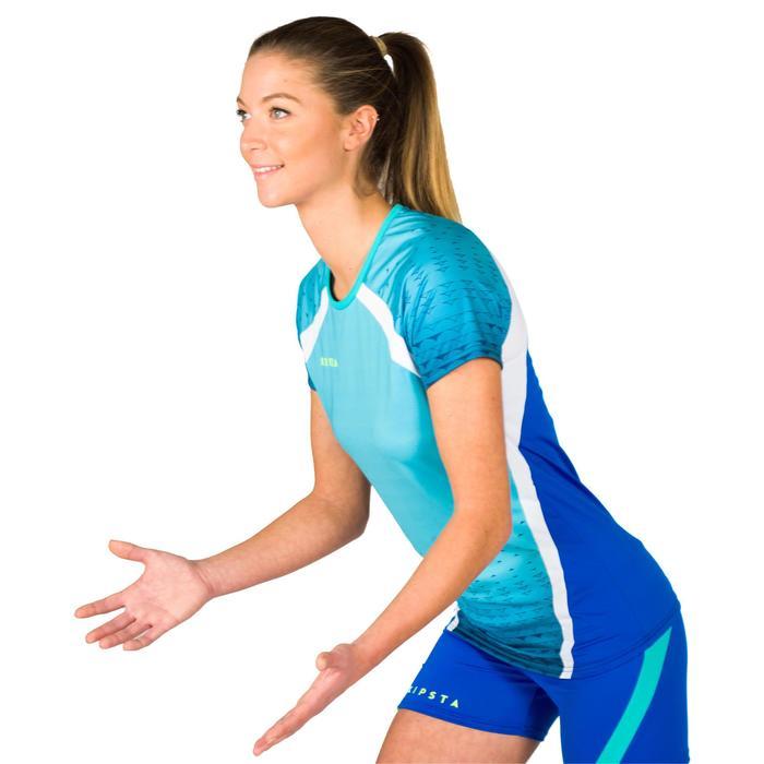 Camiseta de voleibol para mujer V500 verde