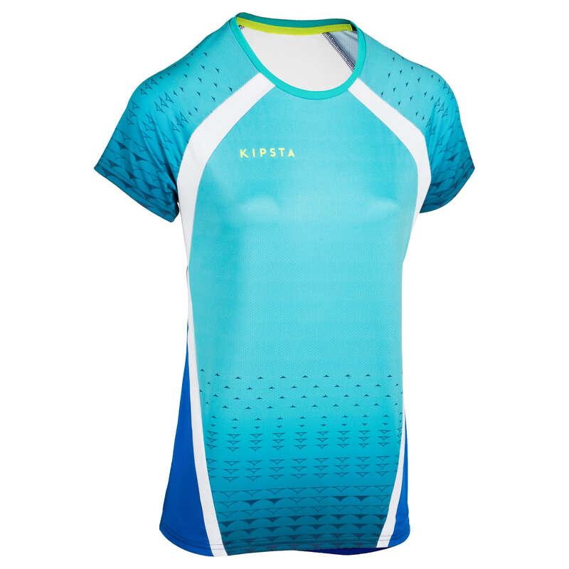 VOLLEY BALL APPAREL Volleyball and Beach Volleyball - V500 Women's Jersey Green Blue ALLSIX - Volleyball and Beach Volleyball