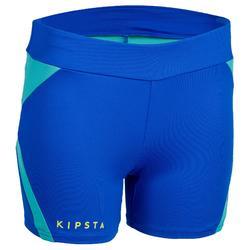 Pantalón corto de voleibol mujer V500 azul eléctrico