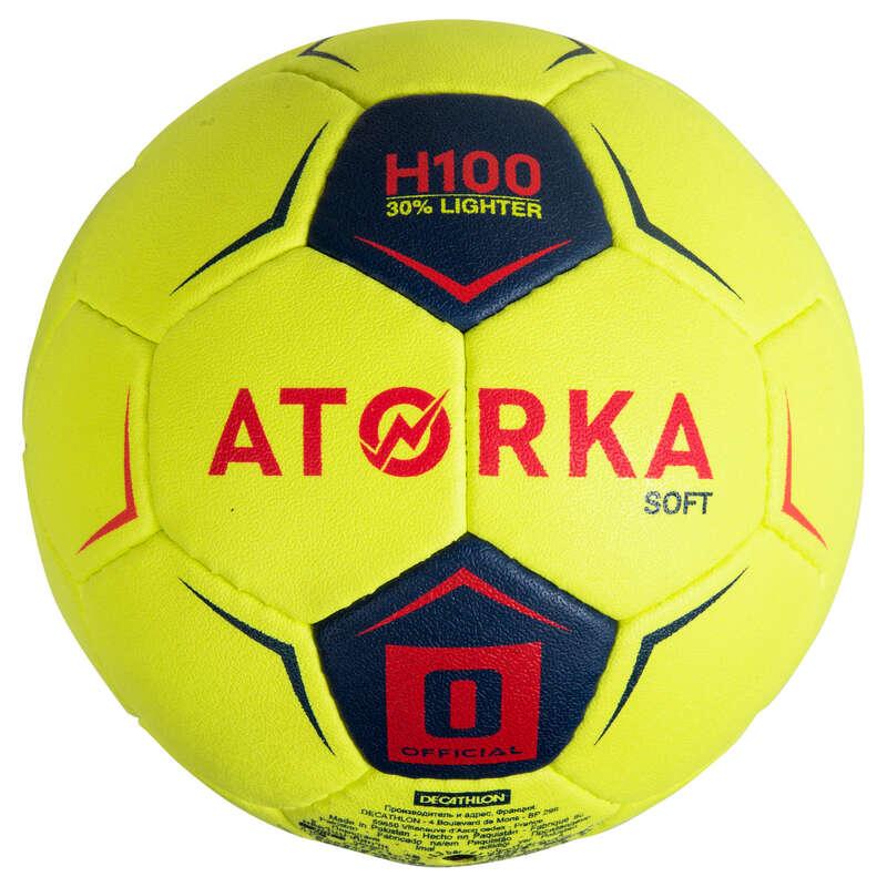ATORKA H100 Soft S0 Kids' Handball - Yellow/Pink | Decathlon