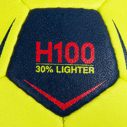 H100 Soft S0 Kids' Handball - Yellow/Pink