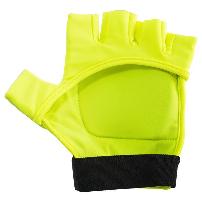 Feldhockey-Handschuhe FH100 mittlere Intensität Kinder/Erwachsene gelb