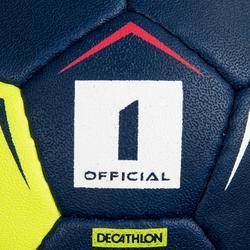 Ballon de handball enfant H100 soft T1 bleu marine / jaune