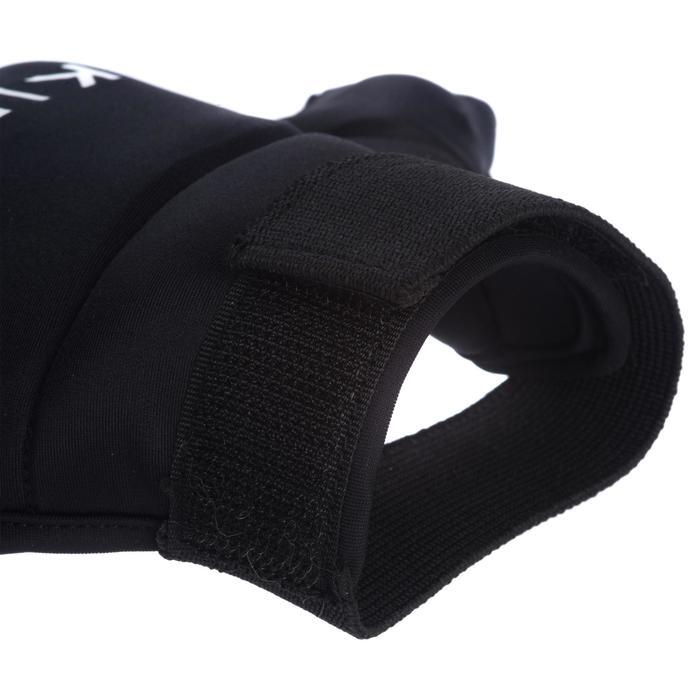 Hockeyhandschoen voor kinderen en volwassenen halve vinger FH100 zwart