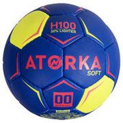 Balón de balonmano H100 soft T00 Azul y Rosa