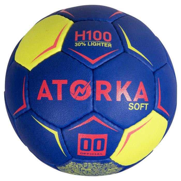 Handball H100 Soft Größe 0 blau