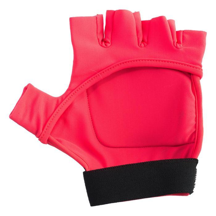 Hockeyhandschoen voor kinderen halve vinger FH100 roze