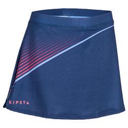 Falda de hockey sobre hierba mujer FH500 azul