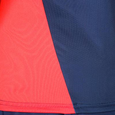 Maillot de hockey sur gazon femme FH500 bleu et rose