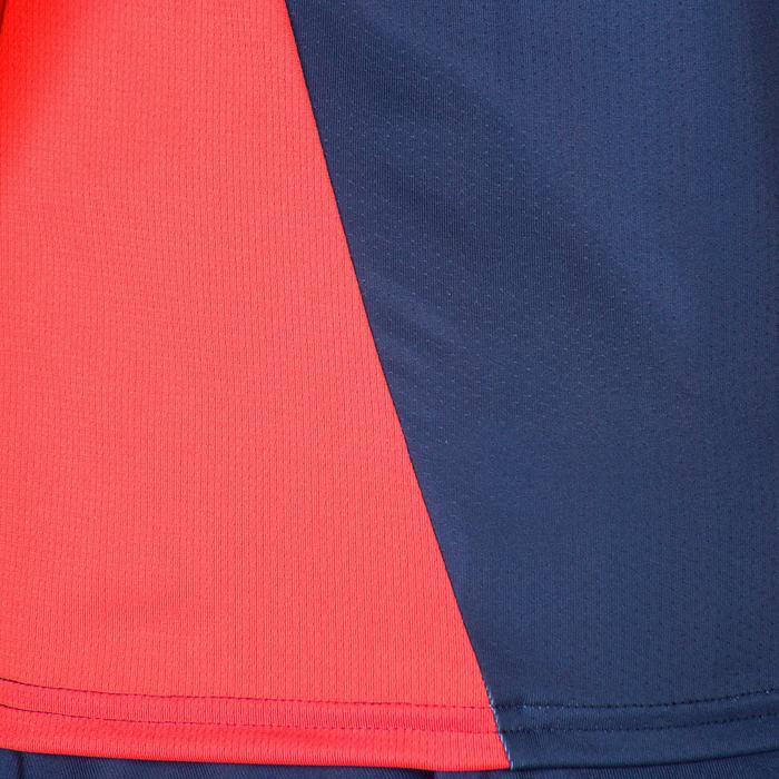 Camiseta Manga Corta Hockey Hierba Kipsta FHTS500 Mujer Azul Rosa