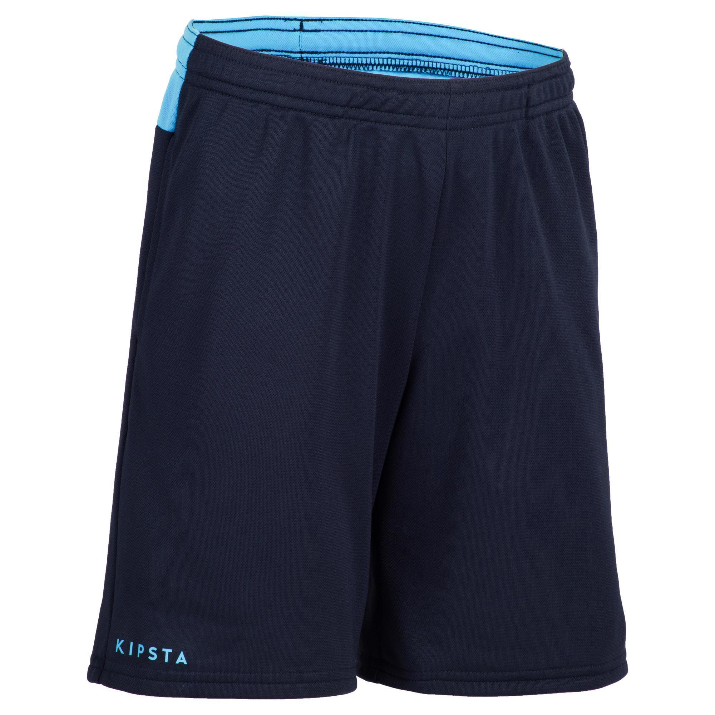 Kipsta Jongensshort voor veldhockey FH100 marineblauw/lichtblauw