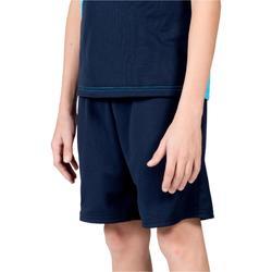 Jongensshort voor veldhockey FH100 marineblauw/lichtblauw