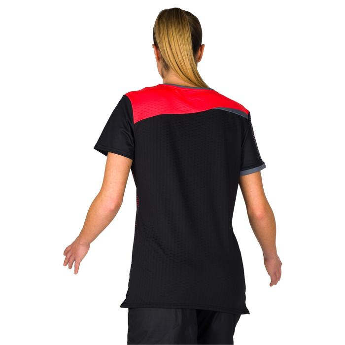 Maillot de handball adulte H500 noir/rose