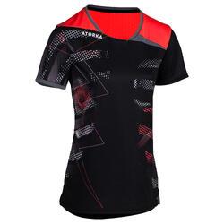 Camiseta de balonmano adulto H500 negro / rosa