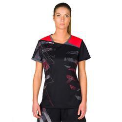 Camiseta de balonmano H500 Negro y Rosa