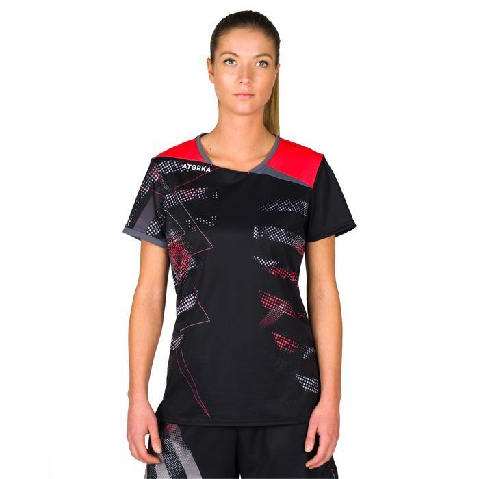 Handballtrikot H500 Damen schwarz/rosa