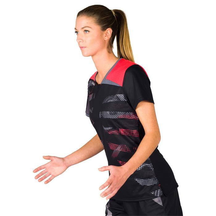 Handbalshirt dames H500 zwart/roze