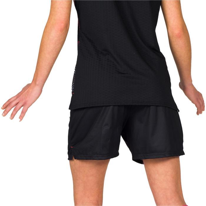 Short de handball H500 femme noir et - 1315642
