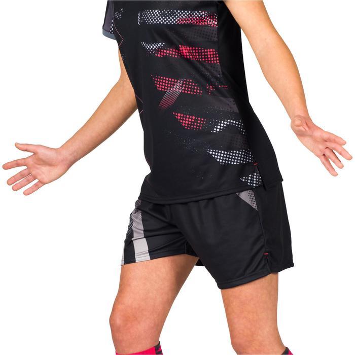 Short de handball H500 femme noir et - 1315644