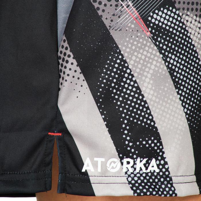 Pantalón de Balonmano Atorka H500 Mujer Negro y Gris
