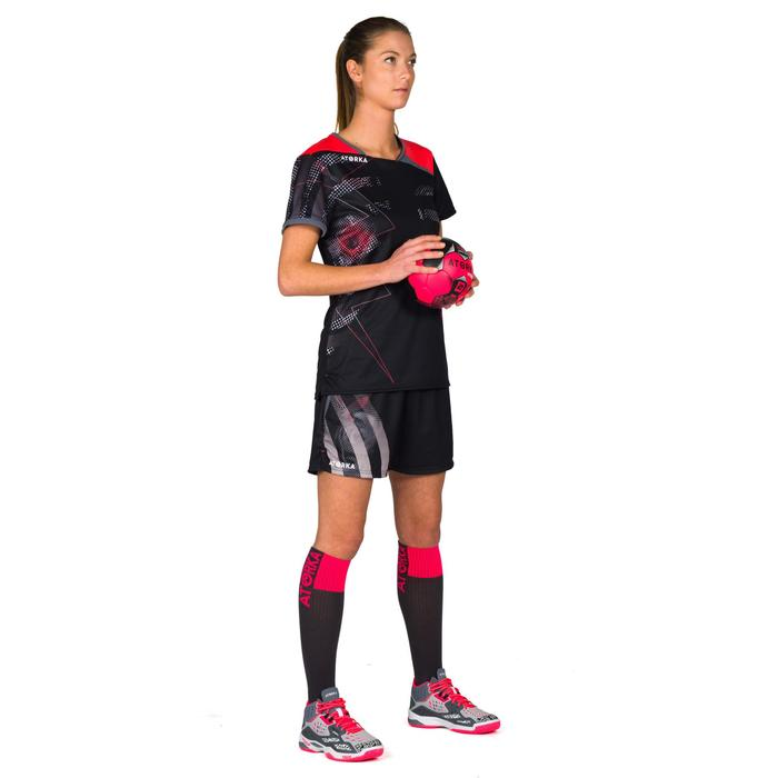 Handballshorts H500 Damen schwarz/grau